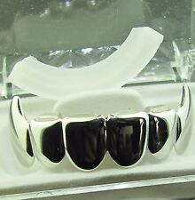 GRILLZ SILVER VAMPIRE TOP MOUTH GRILLS PLAIN DESIGN L020