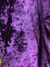 Purple Crushed Stretch Ice Velvet clothing dress Spandex 4-way stretch Fabric