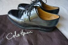 COLE HAAN NIKE AIR MEN'S BLACK LEATHER OXFORDS DRESS SHOES SIZE 7.5 M