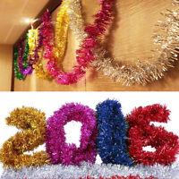 2mLong Shinny FOIL CHRISTMAS GARLANDS Xmas Hanging Wall Decoration Ceiling Home