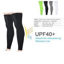 1 Pair Unisex Leg Sleeves Cover UV Sun Protection Basketball Golf Athletic Sport