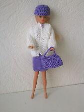 Puppenkleidung,passend für Barbiepuppe,Rock,Jacke,Tasche,Käppi Handarbeit 6235
