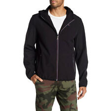 Tommy Hilfiger Mens XL Soft Shell Fleece Water Resistant Active Hoodie Black