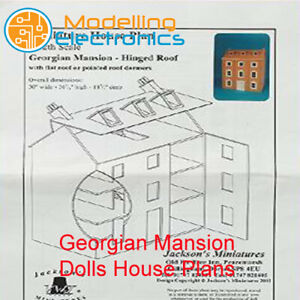 Dolls House Plans To Build Your Own 1:12 Scale Georgian Mansion