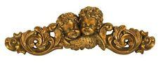Fregio frontino sovraporta in resina foglia oro barocco ANGELI ORO 62 cm
