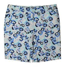 TALBOTS Blue Multi Floral Bermuda Shorts, Size 16 NWOT $70