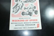 VINTAGE 1973 INDIANA STATE FAIR RACING PROGRAM MOTORCYCLES MIDGETS SPRINTS CARS