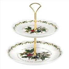 Portmeirion The Holly and The Ivy 2 Tier Cake Stand