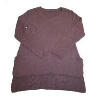 B43 prAna Women's Purple V-Neck Long Sleeve Knit Sweater Size Small