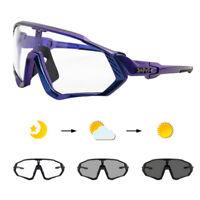 KAPVOE UV400 Sports Cycling Glasses Riding Goggles Eyewear for Men Women TR90 Sunglasses 4 Lens 250g