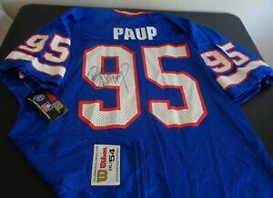 BRYCE PAUP Buffalo BILLS Football SIGNED Replica VINTAGE Wilson XXL Jersey NEW