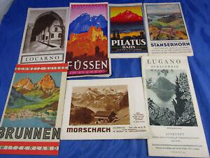 Konvolute Reiseandenken Reiseprospekte Schweiz 30/40er Jahre Morschach Füssen