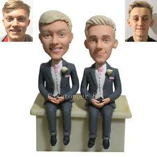 Semi Custom Lesbian Male Birthday Wedding Cake Toppers Gay Figurines Homosexual