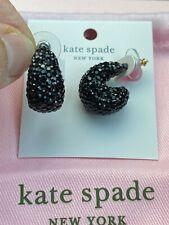 New Kate Spade Black Sequence Hoop Pierced Earrings, Amazing!!!