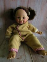 Vintage Munecas Geli Baby Doll Vinyl Brown Hair 13""