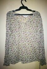 H&M FLORAL PRINT LONGSLEEVE TOP TAG SIZE US 6