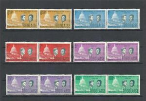 Togo 1962 Sc# 432-37 set Kennedy and Sylvanus Olympia pairs MNH