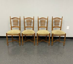 Ethan Allen Legacy Wheatback Dining Side Chair Maple #13-6312 Russet -Set Of 4-