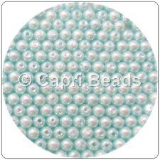 100 x 6mm Light Turquoise Acrylic Pearl Beads, Jewellery, Wine Glass Charms