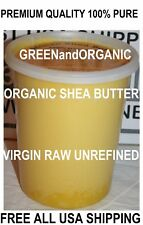 100% Organic Virgin Raw African Shea Butter. Unrefined 32oz 2lb  Grade A