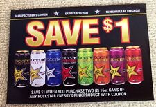 ROCKSTAR Punched Juiced ZERO Energy Drink Coupon Exp 2009 Unused RARE Collectors