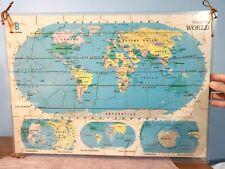 "PICTURE: USA & WORLD MAPs, puzzle PLEXIGLAS, two-sided 21"" x 15"", MILTON BRADLEY"