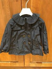 Armani junior Girls Navy Blue Trench Jacket Size 4