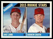 2015 Topps Heritage Jake Lamb RC / Andrew Chafin RC #127 Arizona Diamondbacks