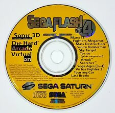 Sega Saturn Montre-Moi Disque Flash Vol. 4 Pal Sonic 3D / Bomberman / Amok /