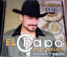 El Chapo De Sinaloa Mis Primeros 20 Exitos Volumen 2 CD Nuevo Sealed