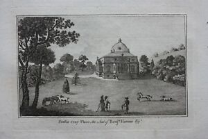 FOOTS CRAY PLACE, KENT, PALLADIAN STYLE, original antique print, Boswell, 1786