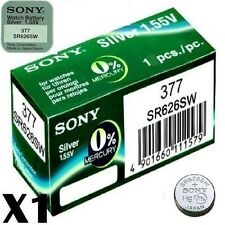 Sony Watch Batteries x4 Made Cell Button Silver-Oxide 1.55v-377 SR626SW AG-4