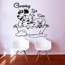 Dog Wall Decals Grooming Salon Decal Vinyl Sticker Pet Shop Scissors Decor MN480