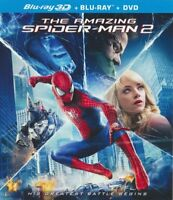 The Amazing Spider-Man 2 Blu-Ray 3D + Blu Ray + DVD NEW Sealed Free Shipping