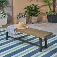 Toby Outdoor Acacia Wood Bench