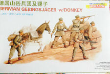 1:35 Dragon #6078 GERMAN GEBIRGSJAGER WITH DONKEY
