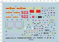 1/72 J-11 Chinese Air Force J11 Model Kit Water Decal