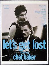 LETS GET LOST 1989 FILM MOVIE POSTER PAGE . CHET BAKER BRUCE WEBER . E29