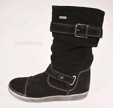 Richter Girls Black Suede Waterproof Zip Boots UK 6.5 EU 40 US 8