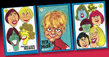 3 americana pop PARATA CALCIATORI di colla 1972 BEE GEES Lords RITA PAVONE