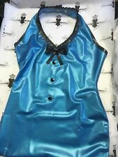 SECONDS R1292 Kandy Love Latex Halter Dress *PS BLUE* Size 12/14 UK ONLY SECONDS