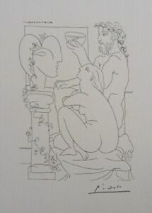 Pablo Picasso(After) : The Fish et La Muse - Lithography Signed #1200ex
