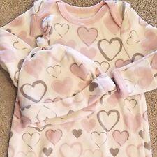 SWEET! KOALA BABY ORGANIC 3 MONTH CREAM & PINK HEART 2PC SLEEP GOWN W/HAT REBORN