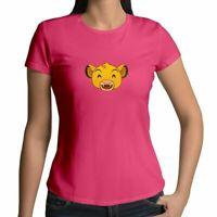 Lion King Simba Happy Smile Emoji Face Cute Shirt Juniors Girl Women Tee T-Shirt
