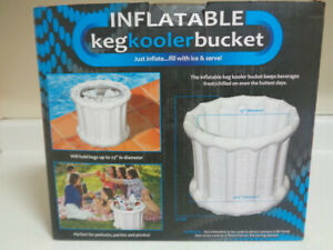 Inflatable Keg Cooler Bucket/Fill Keg (23') Wide With Ice & Your Favorite Drink.