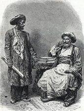 Antique woodcut print Ceylon Sri Lanka / portrait jewish men / jew,jews,man 1871