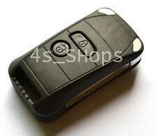 Blank Modify Flip Folding Key Shell Case For Peugeot 107 207 307 407 607 2Button