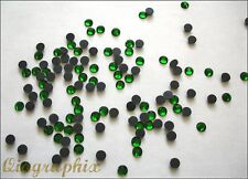 2 x 1440 Iron On Hotfix Crystal Emerald Green Rhinestones SS16, Grade A, GA16G