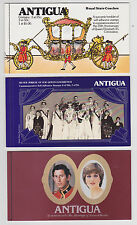 A   Antigua 3 Booklets  25th Ann Coronation,Silver Jubile & Royal Wedding  MNH