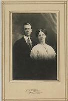Antique Photo - Pratt Kansas Young Couple - CLARK Family (W.C. Sister)